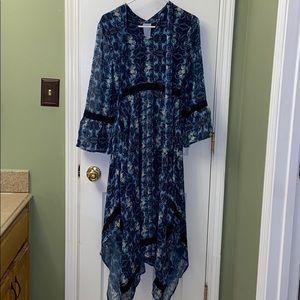 ModCloth blue flower dress size xs